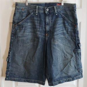 Men's Guess Jeans Denim Cargo Shorts sz 38